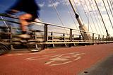 Biker on a bike track
