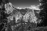 Three granite monoliths Yosemite National Park