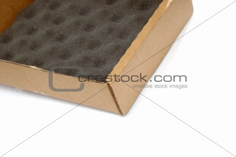 cardboard box with stuffing