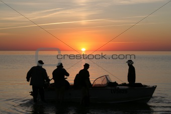 Fishermen sunset
