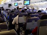  Wide body jet interior
