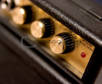 Controls on guitar amp