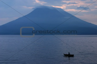 Fisherman, Lago Atitlan, Guatemala