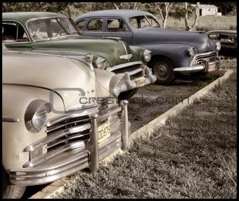 Vintage cars in Viñales, Cuba
