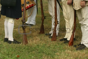 Reviewing the Troops--Revolutionary War Reenactment