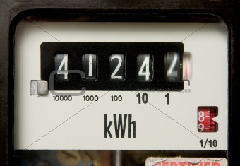 Electricity meter – spinning dials