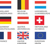 Flags: European countries 1