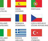 Flags: European countries 2