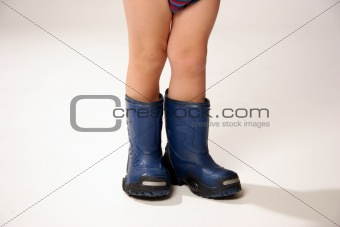 boys feet in wellington boots