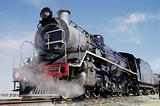 Full view of steam train at Swakopmund, Namibia