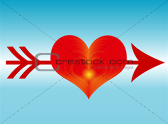arow and heart