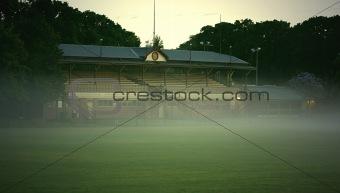 Foggy Football Field