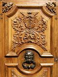 Ancient carved wood door