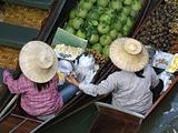 Thailand women in a floating market
