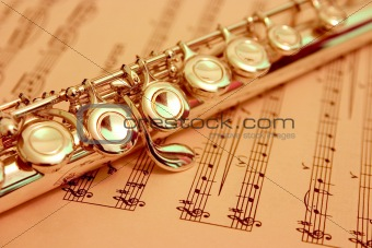 Flute & sheet music