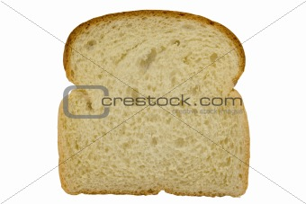 Slice of bread with clipping path