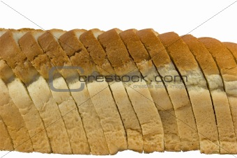 Slices of bread with clipping path