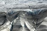 Glacier with ash