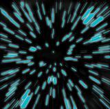Hyperspeed Blue Starfield