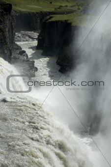 Waterfall in canyon