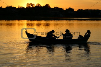 canoe with people