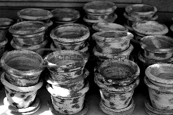artisan flower pots