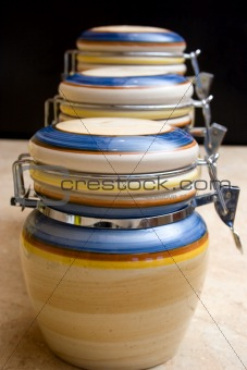 ceramic food jars