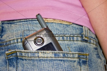 Cell phone in pocket
