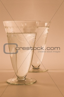 Art Deco Water Glasses