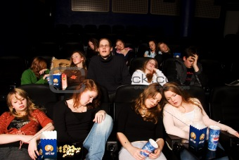asleep at the movies
