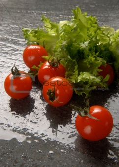 Green salad & tomatoes