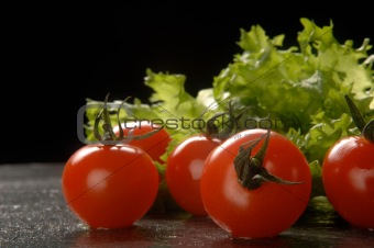 Green salad & tomatoes