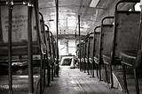An empty Delhi Transportation Bus