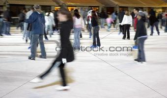 Skating at bryant park