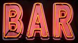 Red neon bar sign
