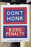 Don't honk street sign