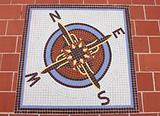 Mosaic compass