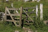 Wooden kissing gate