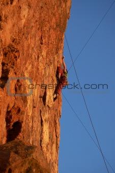 Cliffside Rock Climber