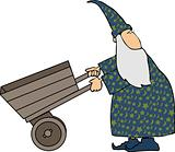 Wizard with a cart