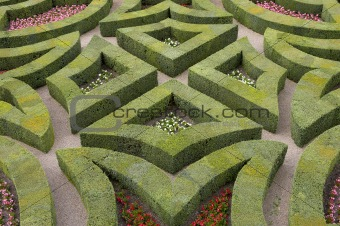 Formal gardens at chateau