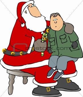 On Santa's knee