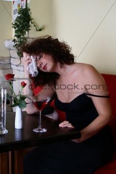 a glass full of  sorrow