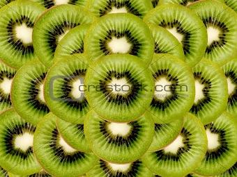 kiwi slices as a background image