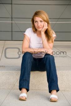 sitting girl