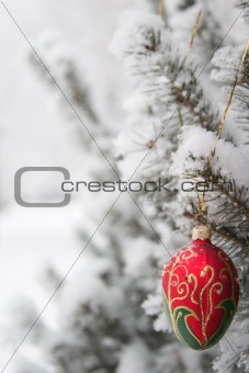 branch with decoration
