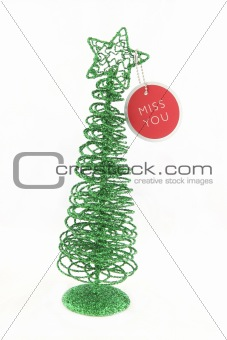 Green Christmas tree isolated