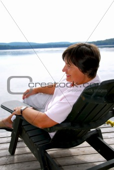 Mature woman relax