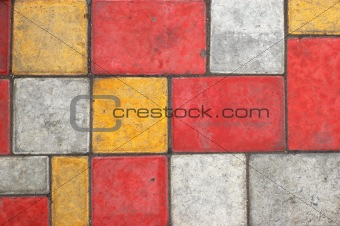 Bright colored paving slab texture/background #1