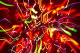 abstract background: colored light motion blurs #4